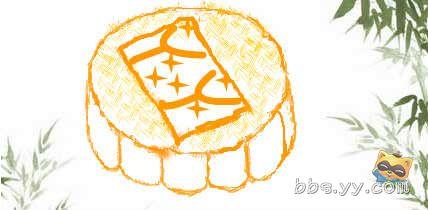 中秋节的月饼怎么画,中秋节吃月饼小故事 图片 18k 428x210-简笔画